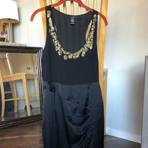 Black Cocktail Dress w/ Gold Details